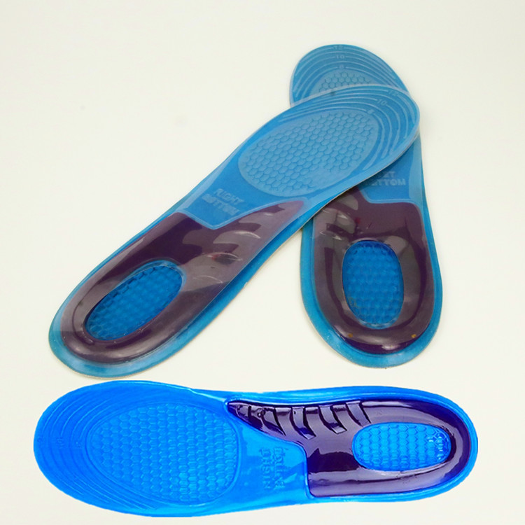 OEM Shock Absorb Comfortable SEBS Silicone Gel insole for sports