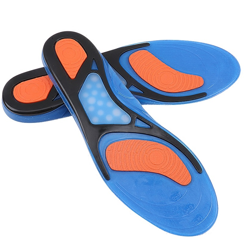 Shock absorbing SEBS TPE gel shoe insole for Sports athletics comfort foot