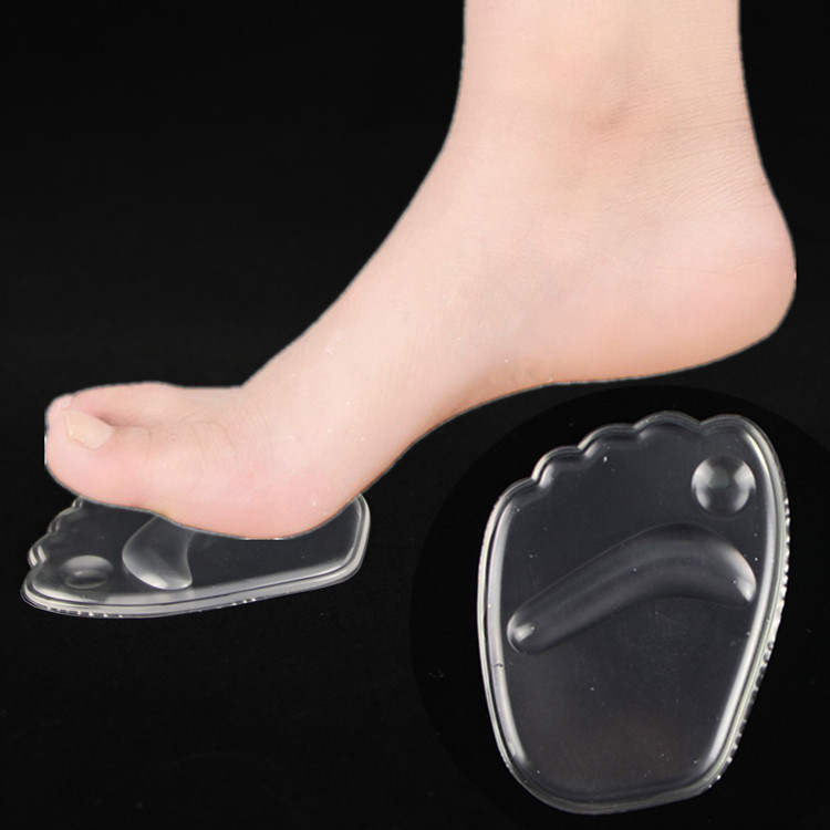 GEL OEM Factory price Sandal pad self-sticky transparent pad PU gel cooling Forefoot cushion for women
